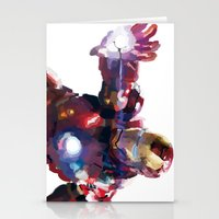 iron man Stationery Cards featuring Iron man by Gary Reddin