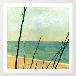 Branches on the Beach Art Print