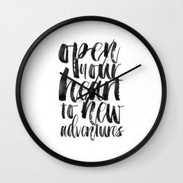 PRINTABLE Art,Adventure Awaits,Adventure Time,Nursery Decor,Quote Prints,Typography Print Wall Clock