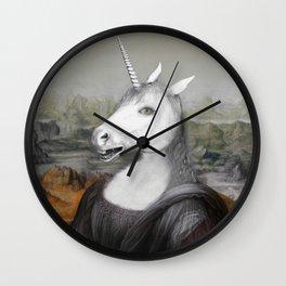 Unicorn Mona Lisa Wall Clock