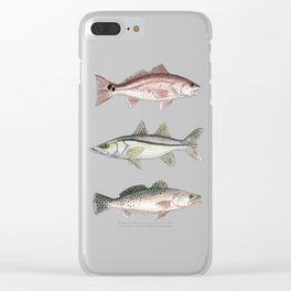 Pattern: Inshore Slam ~ Redfish, Snook, Trout by Amber Marine ~ (Copyright 2013) Clear iPhone Case