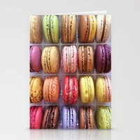 macarons Stationery Cards featuring Macarons  by Laura Ruth