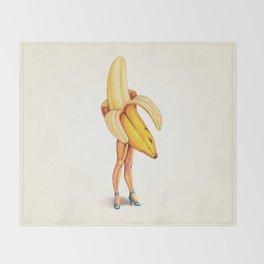 Banana Girl Throw Blanket