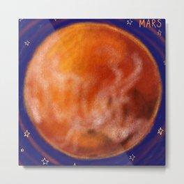 Mars and Stars Metal Print