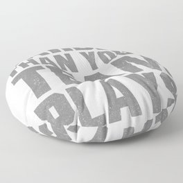 We Talilgate Harder American Football Tailgating  Floor Pillow