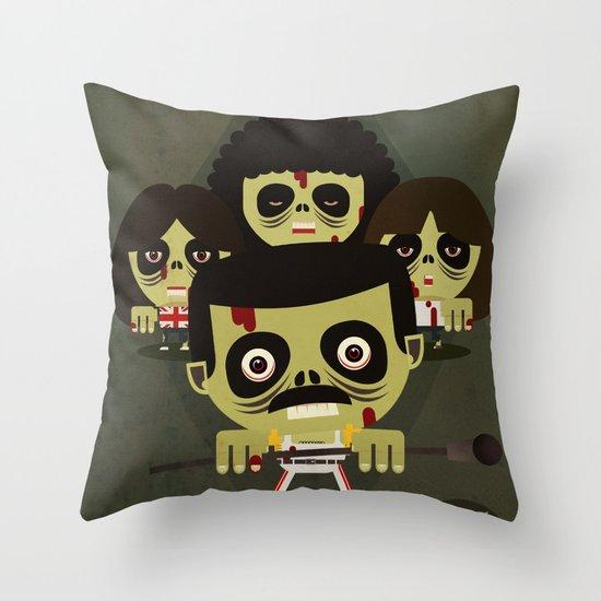 queen zombies Throw Pillow