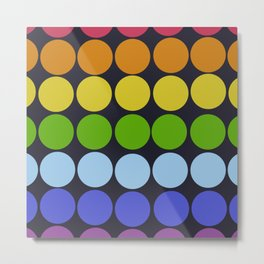 Classic Vintage Style Freehand Retro Dots Metal Print