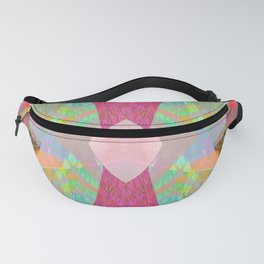 Iridescent Abstract Floral Mandala Fanny Pack