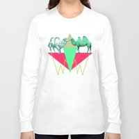 camel Long Sleeve T-shirts featuring Camel Kiss by AmDuf