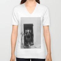 vintage camera V-neck T-shirts featuring Vintage Camera by KimberosePhotography