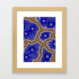 Aboriginal Art Authentic – Water Wetlands Framed Art Print