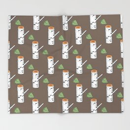birch billets pattern Throw Blanket