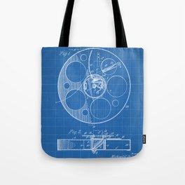 Film Reel Patent - Classic Cinema Art - Blueprint Tote Bag