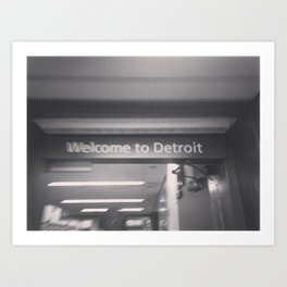 Welcome to Detroit Art Print
