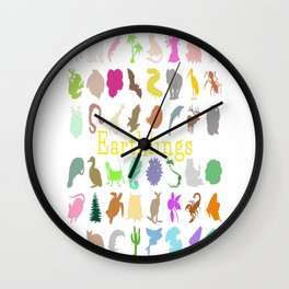 #Earthlings Wall Clock