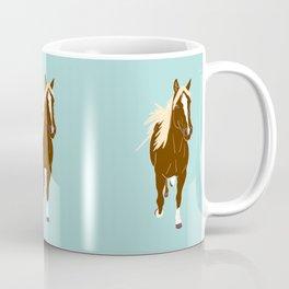 Quarter Horse Equestrian Illustrated Print Coffee Mug