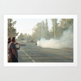 Burnouts Art Print