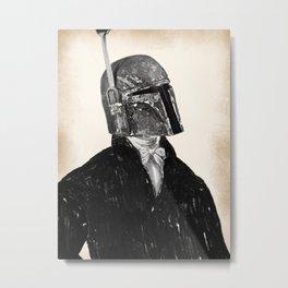 Sir Fett portraiture Metal Print
