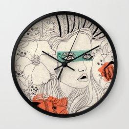 Fish girl Wall Clock