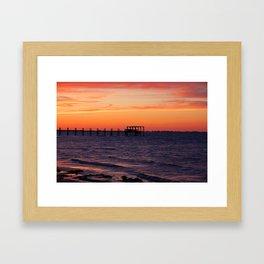 Sunset Off Pine Island Framed Art Print