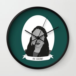 Ava DuVernay Illustrated Portrait Wall Clock