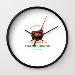 Oh Happy Thanksgiving 2020 Wall Clock