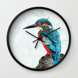Marbled Kingfisher Wall Clock