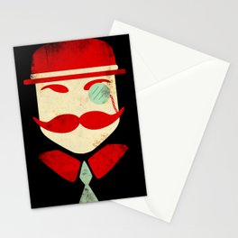 Monocle Man Stationery Cards