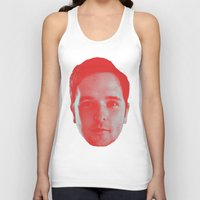 chad wys Tank Tops featuring Chad Head by Blake Makes Tees