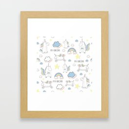 I am a Unicorn Framed Art Print