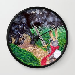 The beast and the knight Wall Clock