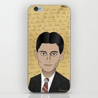 kafka iPhone & iPod Skins featuring Kafka by Pendientera