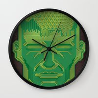 android Wall Clocks featuring Android Dreams by Doodle Dojo