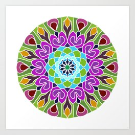 Beautiful colorful abstract mandala Art Print