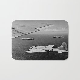 B-17F Flying Fortress Bombers over the Southwest Pacific Bath Mat