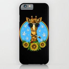 Hippie Giraffe Smoking Weed iPhone Case