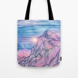 Lines in the mountains XIII Tote Bag