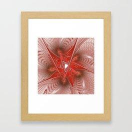 flames on white background -5- Framed Art Print