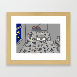 Mochi the pug Waiting for Christmas like... Framed Art Print