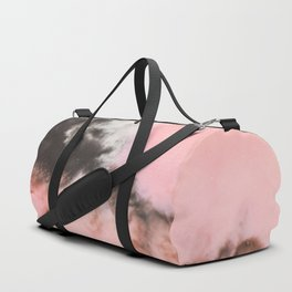 Pink and black marbled paper Duffle Bag
