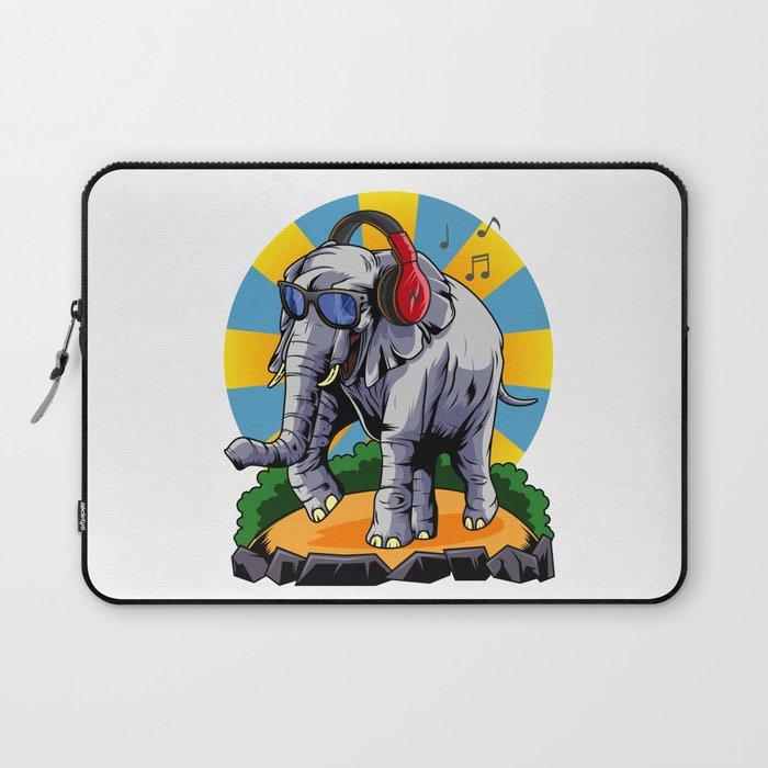 Hipster Elephant | Cool Glasses Headphones Swag Laptop Sleeve