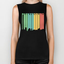 Retro 1970's Style Parkersburg West Virginia Skyline Biker Tank