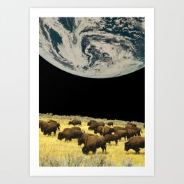 Moon farm Art Print