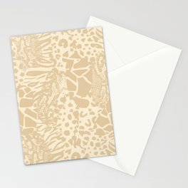 Animal Print Mix - Beige Tan Stationery Cards