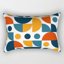 Mid Century Modern Funky Vintage pattern Rectangular Pillow