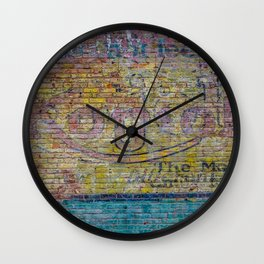 Street Photography in Delaware Ohio, a wall mural Wall Clock
