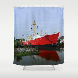 Lightship Overfalls Shower Curtain