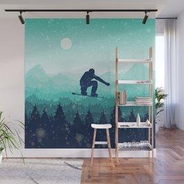 Snowboard Skyline II Wall Mural