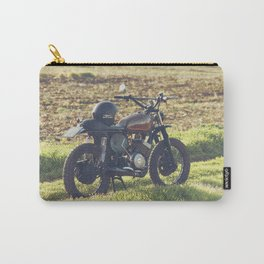 Moto guzzi, café racer, photo in south italy, man cave. Scrambler, fine art, motorcycle, motorbike Carry-All Pouch