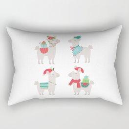 Christmas llamas Rectangular Pillow
